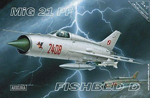 MiG 21 PF /ZWEI IN EINS! - COMBO 2 in 1 MODEL SET/ (POLISH, GERMAN, SLOVAK, ROMANIAN & SOVIET MKGS) 1/72 AKKURA