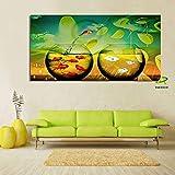 Pintura sin Marco Fish Tank Art Lienzo de Pintura Quiero ser un niño del Arte del Cartel gratisCGQ6587 60X120cm