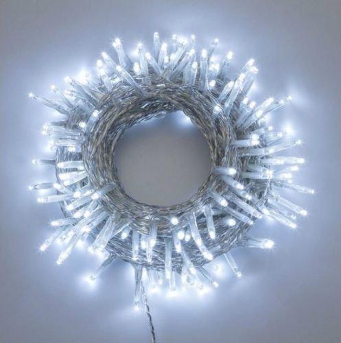 House of Fun LED Extérieur LED BIANCHI Câble 180 TRASP Utilisation EST/INT Jeux de Lumière LED avec Câble 9 M ALIM 4 M Blanc