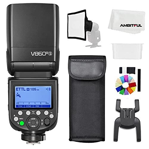 Godox V860III-S TTL 2.4G GN60 HSS Camera Flash with 10-Speed Adjustable Modeling Light,...
