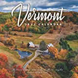"""Vermont 2022 Calendar: 12-month Calendar - Square Small Gorgeous Calendar 8.5x8.5"""" for planners with large grid for note"""