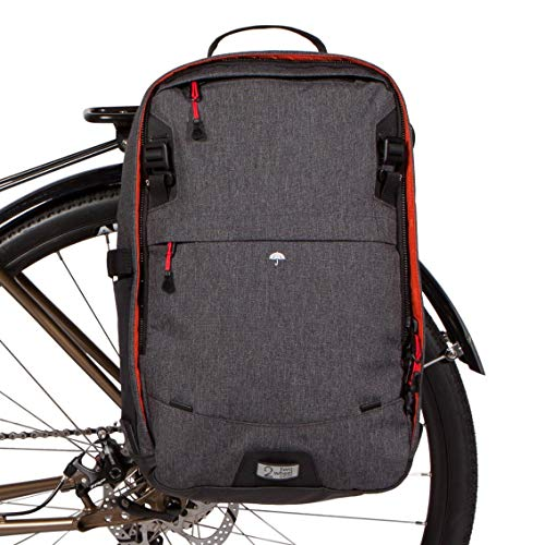 Two Wheel Gear - Pannier Backpack Convertible LITE (22 Litre) - 2 in 1 Commuting and Bicycle Touring Bag - Kompakt Rail Mounting System (Graphite)