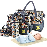 5-Pieces Moclever Diaper Bag Tote Set