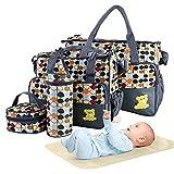 5PCS Diaper Bag Tote Set - Baby Bags for Mom
