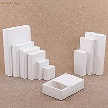 BEESCLOVER White Drawer Shape Craft Gift Handmade Soap Package Kraft Paper Gift Boxes Black Packaging Cardboard Box