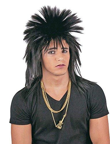 Negra Punk peluca Carnaval Punk peluca