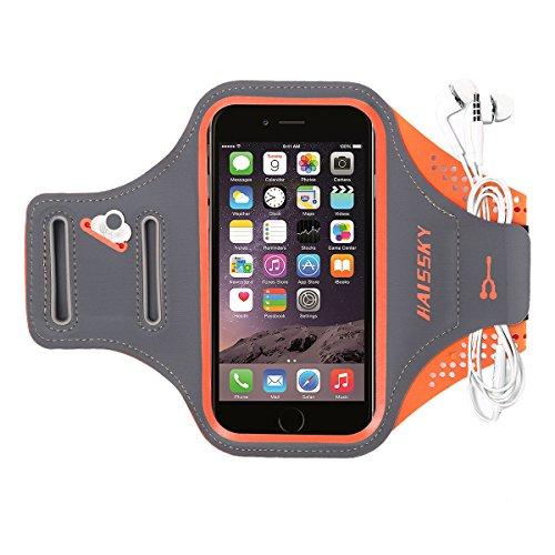 """Haissky Brazalete Deportivo para Correr Brazalete Deportivo Armband con Llavero y Correa Ajustable para iPhone 11 Pro Max/11 Pro X/8 Plus y Otros teléfonos Inteligentes de Menos de 6.5\"""""""