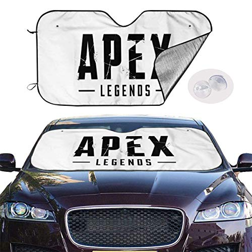 JKKSA Parasol Protector Solar para la Parabrisa Delantera del Coche Apex Legends Logo Art Black Auto Shield Cover Sun Shade for Windshield UV Sun and Heat Reflector