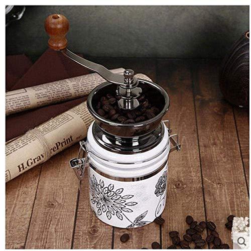 WCJ koffiemolen met roestvrij stalen blad, gemakkelijk te vervoeren, eenvoudig te wassen, thuis op kantoor voor koffiebonen, zaden, specerijen, kruiden en granen