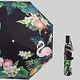 Mode Strauß Muster Blume Regenschirm Regen Frauen Windproof Sun Regen DREI Taschenschirme Regenschirm Dame Sonnenschirm-4