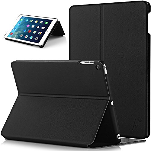 Forefront Cases Cover for Apple iPad Air 1st Generation Clam Shell Smart Case Cover Stand - Slim Light, Full Device Protection & Smart Auto Sleep Wake - Black