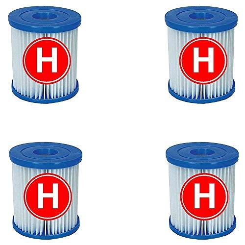 Intex 4 Cartuchos de Filtro para Piscina para Filtro de Tipo H