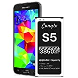 [3850mAh] Galaxy S5 Battery (2021 New Version), Conqto New Upgrade Replacement Battery for Samsung Galaxy S5 EB-BG900BBU SM-G900V I9600 SM-G900H SM-G900A SM-G900TR SM-G900P SM-G900T SM-G900R