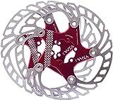 YBEKI Disco de Freno Bicicleta 140mm 160mm 180mm 203mm Rotores para Bicicletas con 12 Pernos para Picicleta de Carretera Bicicleta de Montaña Bicicleta Flotante Disco de Freno (rojo, 180mm)