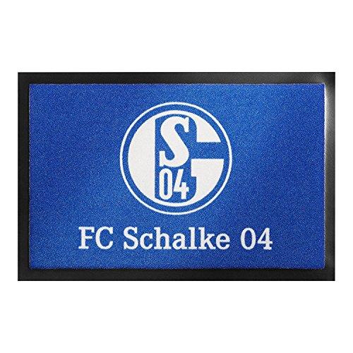 Preis am Stiel Fußmatte - FC Schalke 04 | Fußball Geschenke | Türvorleger mit Spruch | Schalke Fanartikel | Schmutzmatte Eingangsbereich | Geschenk für Männer