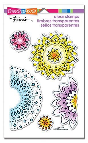 STAMPENDOUS CLEAR STAMPS STAMPND FLRL CIRCL, Rubber
