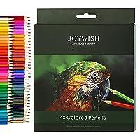 色鉛筆,JOYWISH12 / 18/24/36/48/72色鉛筆プロのオイルアート色鉛筆セット学生子供大人のためのスケッチを描くためのアーティスト塗り絵を書く