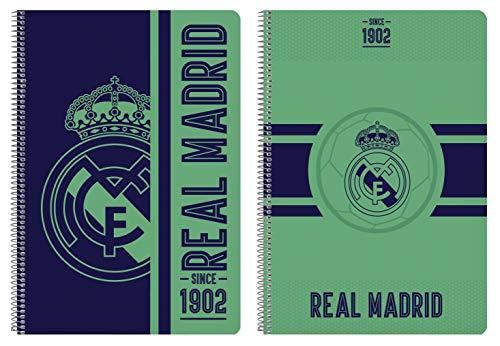 Safta Cuaderno 80 Hojas de Real Madrid, Tapas Duras, 215x310mm, 512057066