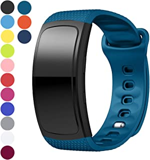 Watbro Watch Bands Compatible with Gear Fit2 Pro/ Fit2, Soft Silicone Replacement Band Strap Wristband for Samsung Galaxy Gear Fit2 Pro SM-R365/ Gear Fit2 SM-R360 Smart Watch