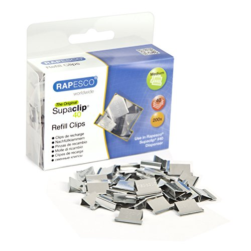 Rapesco Supaclip #40 Refill Clips [Pack of 200]