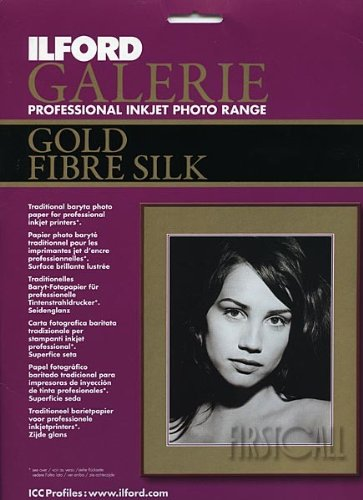 ILFORD Galerie Professional Inkjet 8.5 x 11-Inches, 50 Sheet, Gold Fibre Silk (115 4047)