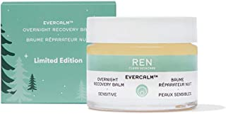 REN Clean Skincare Overnight Recovery Balm Supersize ($80 value) Facial Moisturizer Proven to Hydrate Skin with Olive, Sun...