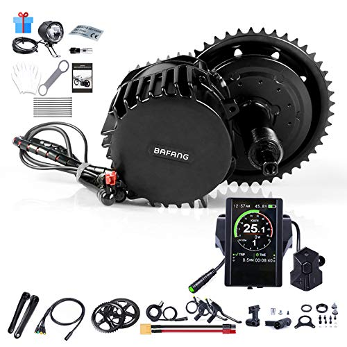 Electric Bicycle Conversion Kit Ebike Motor Drive Kit BAFANG BBSHD 52V 1000W Torque Sensor Engine for Road Mountain Commuter Bike, Crank Drive Electric Bike DIY Kit for Women Men