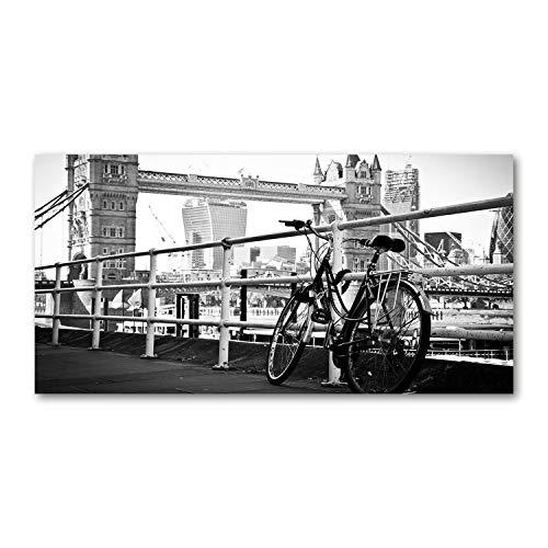 Tulup Acrylglas - 100x50cm - Bild Acrylglas Deko Wandbild Kunststoff/Acrylglas Bild - Dekorative Wand Küche & Wohnzimmer- Fahrrad in Londonweiß