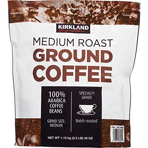 Kirkland Signature Medium Roast Coffee 100% Ground Arabica Coffee Beans (Kosher), 2.5 lbs