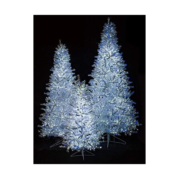 Slim Size Park Avenue Twinkling White Tree with LED Lights Christmas by Autograph 9 Feet