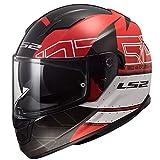 LS2 Casco de moto STREAM EVO KUB Rojo Negro, Rojo/Negro, S