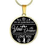 AZ Gifts 18Kゴールドメッキ ガールフレンド ボーイフレンド ネックレス ペンダント - 女性へのアイデア - ガールフレンドへのギフト - 彼女へのギャグギフト 誕生日 クリスマスに