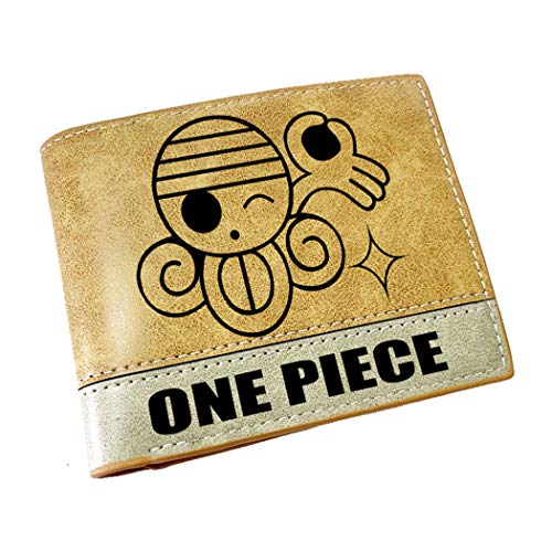 WANHONGYUE One Piece Anime Billetera de Cuero Artificial Cartera Corta Portatarjetas para Hombre / 11