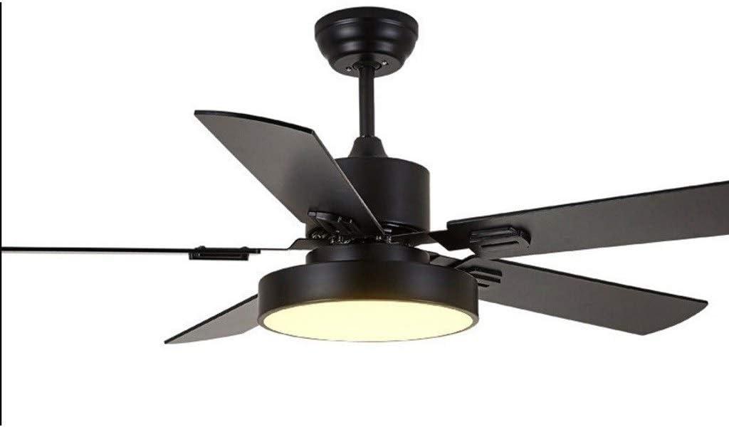 Luz silenciosa del ventilador de techo Ventilador de techo LED eficiente de 42/52 pulgadas con hoja de abanico de madera y lámpara de pantalla de acrílico con control remoto Ahorro de energia
