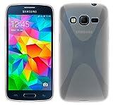 Tumundosmartphone Funda Gel TPU para Samsung Galaxy Core Prime G360F X-Line Color Transparente
