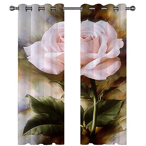 Michance 3D Digital Printing Curtain Easy Installation Of Curtains Without Punching Fashion Personality Home Creative Decoration Curtain 2 Pieces
