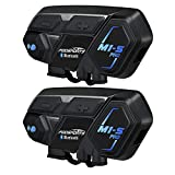 Moto Bluetooth Intercom, Fodsports M1S 2000m 8 Riders Intercom Casque Moto Interphone Bluetooth Intercom 20h de Temps...