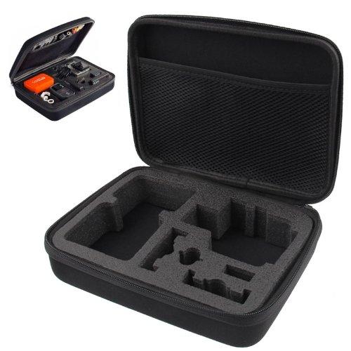 LINSHOAHUICASE Caja de metal Exterme deportes a prueba de golpes impermeable EVA portátil caso para Xiaoyi, tamaño: 22.5 cm x 17.5 cm x 6.7 cm (negro)