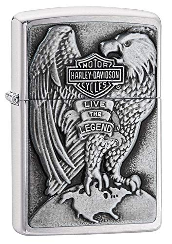 Zippo 2000083 Harley Davidson - Made in USA - Eagle & Globe - Chrome brushed