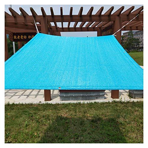 GHHZZQ-Velas de sombra, 90% UV Toldo Opaco Ligero Marquesina Rectangular/Cuadrada por Jardines, Piscinas, Camping, Cocheras (Color : Blue, Size : 3x4m)