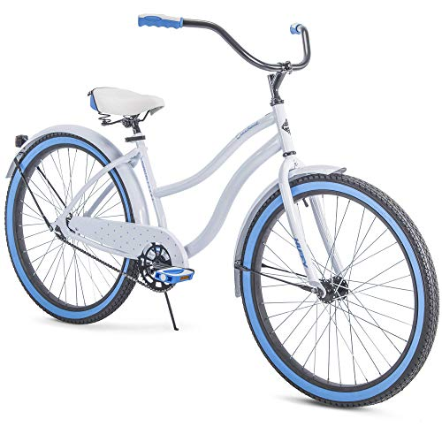 "Huffy 26"" Cranbrook Womens Cruiser Bike - White/Blue"