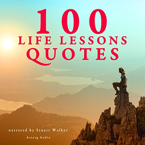 100 Life Lessons Quotes audiobook cover art