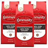 Community Coffee 100% Pure Ground Chicory, 12 Oz Bag, Pack of 3