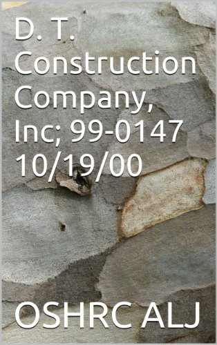 D. T. Construction Company, Inc; 99-0147 10/19/00 (English Edition)