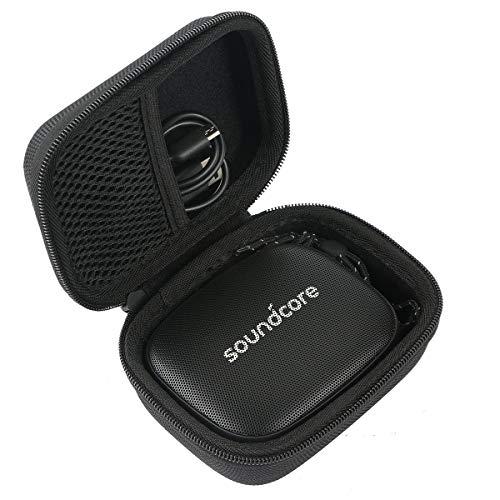 Khanka Hart Tasche hülle für Anker Soundcore Icon Bluetooth Lautsprecher Etui Case. (Für Icon Mini, Schwarz)