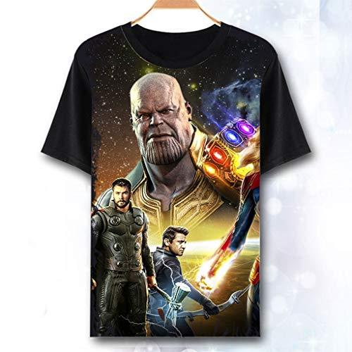 Kacular Clothing Rächer Endgame T-Shirt Iron Man Thor Schwarze Witwe Hulk Captain America Thanos Superhelden Kinder Erwachsene Größe 3-XXXXL