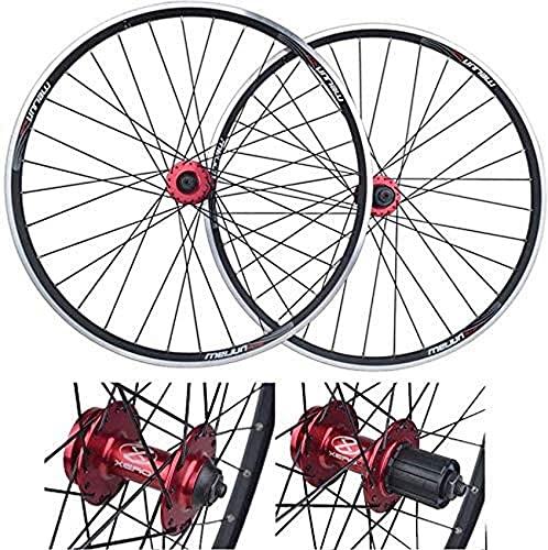 Mountainbike Felgen Hinterrad, 26 Zoll Fahrrad Laufradsatz Doppelwandige Schnellspanner Felge V-Brake Scheibenbremse 32 Löcher 7-8-9-10 Speed Bike Vorder- und Hinterräder