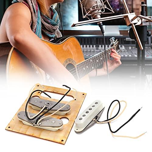 Jopwkuin Pastillas De Puente, Pastilla Simple De Bobina Simple para Guitarra Eléctrica(Blanco)