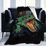 Florida Gator Gators Fishing Big Mouth Blanket 3D Print Quilt Light Warm Sofa Blanket