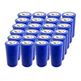 ER 26500 9000mAh 3.6V C Size Lithium Thionyl Chloride Battery with Button Top (24pc)